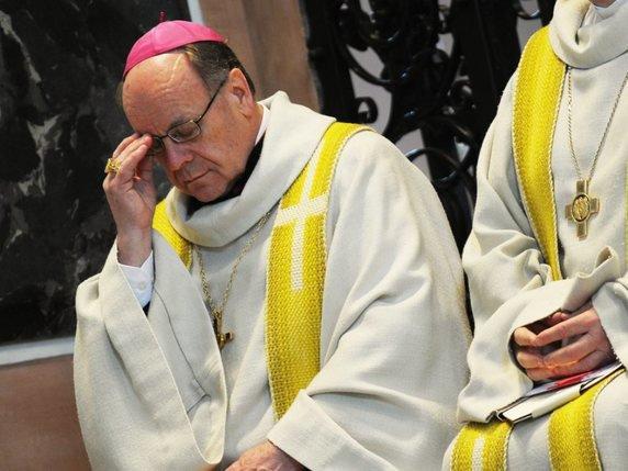 L'évêque Huonder est connu pour ses positions ultraconservatrices, notamment sur l'homosexualité (archives). © Keystone/STEFFEN SCHMIDT