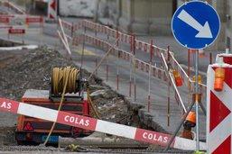 Travaux et route fermée à Attalens