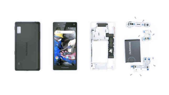 Aisément réparable, le Fairphone 2 pourrait avoir une durée de vie bien plus importante que celle d'un autre smartphone. © Fairphone