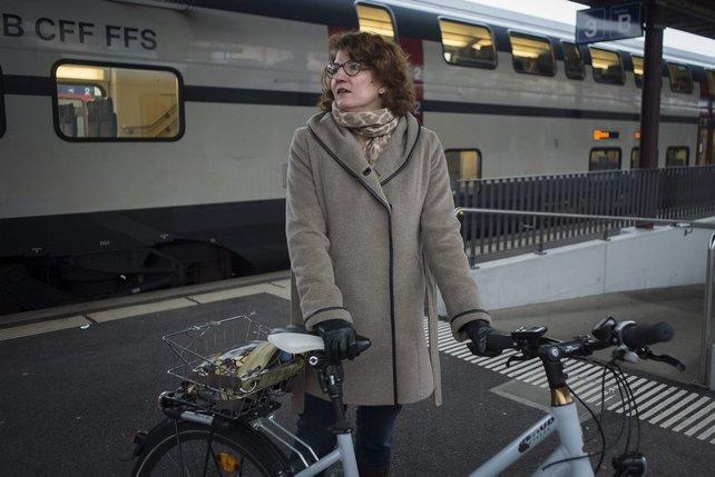 Nicole Bardet préfère rester à quai et laisser son mari s'embarquer pour l'exécutif. © Alain Wicht