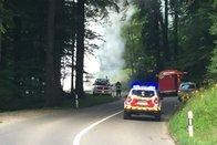 Une caravane détruite par le feu à Promasens