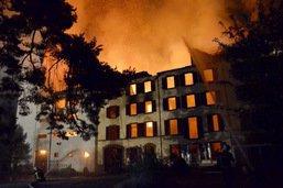 Incendie au moulin à Cousset