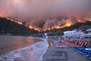 L'île grecque de Chios en proie aux incendies