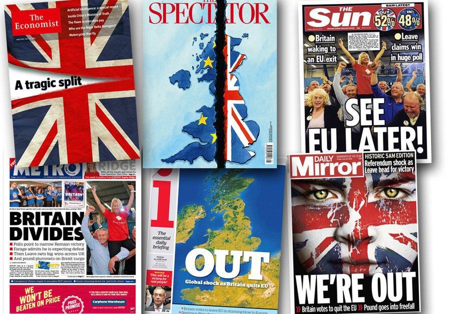 Brexit: les Unes de la presse