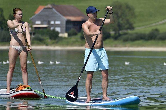 Première réussie pour le Gruyère Paddle Slow-Surf