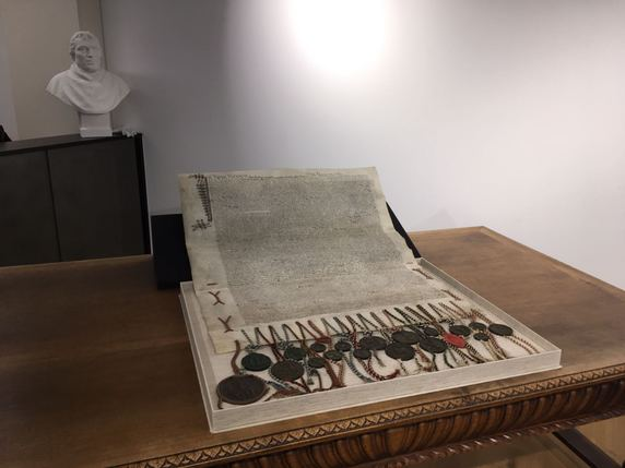L'original du traité est conservé à Fribourg. © Olivier Wyser