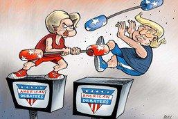 Le premier débat télévisé adjugé à Hillary Clinton