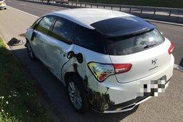 Collision entre une voiture et une fourgonnette sur l'A12