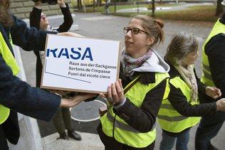 Le Conseil fédéral veut combattre Rasa par un contre-projet