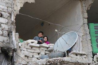 """Les enfants d'Alep en danger permanent face aux """"bombes antibunker"""""""
