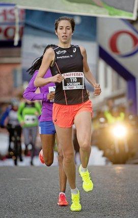Fabienne Schlumpf: «Vu mon état de forme, je savais que c'était possible. A la fin mes jambes étaient fatiguées, mais pas ma tête.» © Alain Wicht
