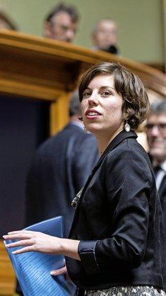 Vice-présidente des Verts, la Genevoise Lisa Mazzone croit à un «mouvement de fond».  © Keystone-archives