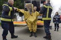 Les jeunes pompiers vaudois et fribourgeois s'entraînent ensemble