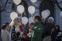 Une quarantaine de personnes réunies pour une marche blanche