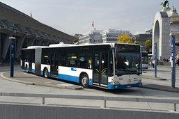 Des bus lucernois dans les rues de Fribourg