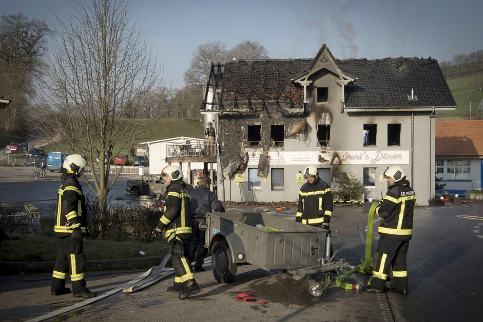 Le Deni's Diner ravagé par le feu