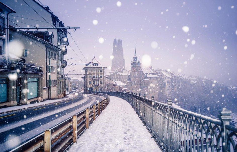 Le Pays de Fribourg en hiver