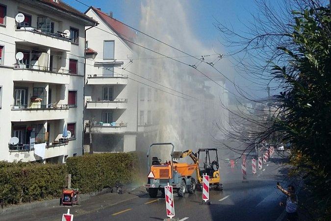 Jet d'eau à la route de Villars