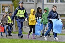 Des élèves mobilisés contre les déchets