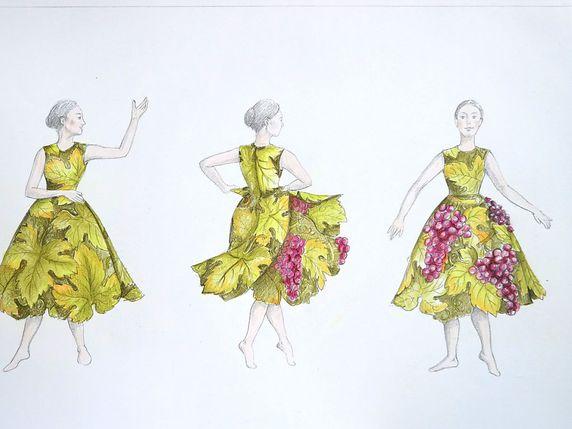 Les premiers projets de costumes ont été dévoilés. © Giovanna Buzzi/ Fête  des vignerons