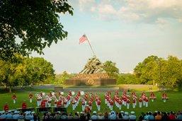 L'orchestre de l'armée américaine à Avenches Tattoo