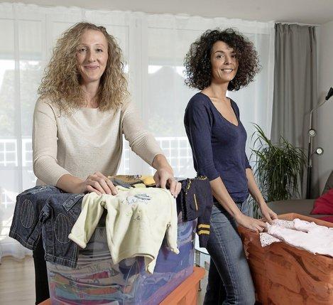 Delphine Ben Hamida-Bovay (à gauche) et Sonia Ben Hamida ont lancé la plateforme Bibou'tic.  © Charly Rappo