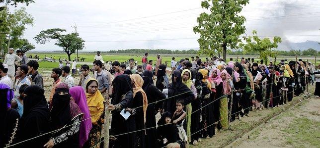 Le cap des380000 musulmans rohingyas réfugiés depuis le 25août auBangladesh pour fuir lesviolences en Birmanie aété franchi.  © Keystone