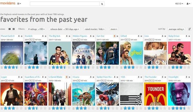 Sur la base de vos évaluations et de celles d'autres utilisateurs, MovieLens est capable de prédire votre appréciation de films que vous n'avez pas encore vus. © MovieLens.org