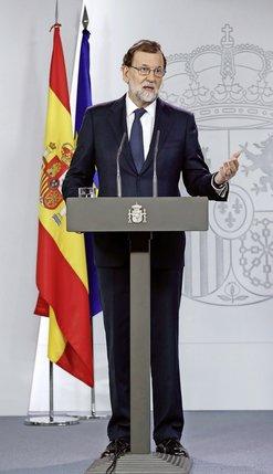 Le président du Gouvernement espagnol Mariano Rajoy a exigé hier une réponse formelle de Barcelone sur l'indépendance.  © Keystone