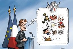 Le président Macron parle à son peuple