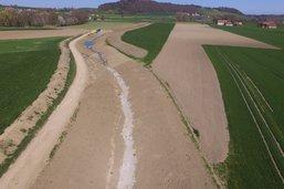 Le ruisseau du Palon remis à ciel ouvert à Prez-vers-Noréaz