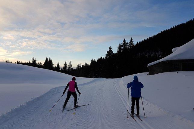 La piste de ski de fond inaugurée aux Paccots