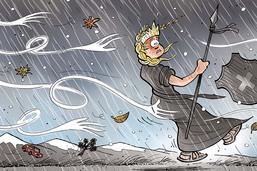 Tempête hivernale à l'assaut de la Suisse