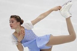 Alexia Paganini 9e après le programme court au CE de Moscou