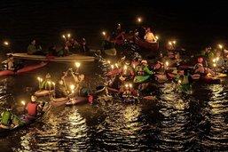 Les lumières de Noël sur la Sarine