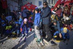 La foule a skié à Estavayer-le-Lac