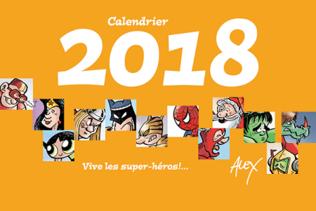Le calendrier 2018 d'Alex est arrivé