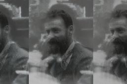 Le peintre suisse Ferdinand Hodler filmé en 1896 à Genève