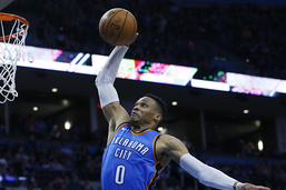 100e tripe double pour Russell Westbrook