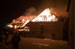 Une maison détruite par les flammes à Montmagny