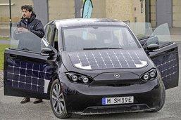 Essais de voitures solaires à LaTour-de-Trême