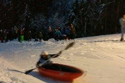 En kayak sur les pentes de la Berra