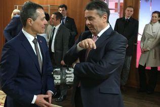 Cassis et Gabriel discutent de la Syrie et des relations Suisse-UE