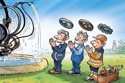 Des disciples de Tinguely ont réparé la fontaine de Fribourg