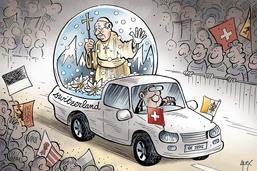 Le pape en Suisse