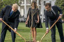 Macron reçu en grande pompe par Trump à Washington