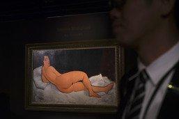 """Un """"Nu couché"""" de Modigliani adjugé 157,2 millions de dollars"""