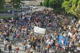 Mobilisation à Bienne contre le contournement autoroutier ouest