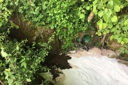 Pollution d'un cours d'eau à Rueyres-Treyfayes
