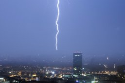 Orages et grêle s'abattent à nouveau sur le canton de Zurich